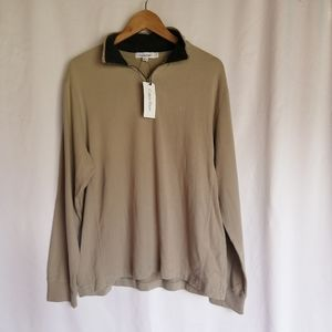 NWT Calvin Klein 1/4 zip sweater